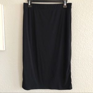 Lulu's Basic Black Stretchy Knit Pencil Skirt